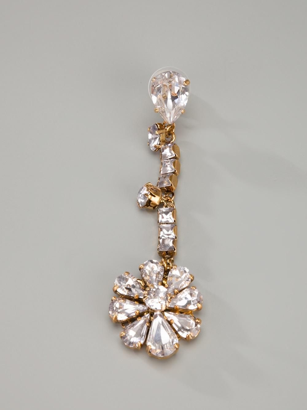 erickson beamon hello sweetie flower earring in metallic