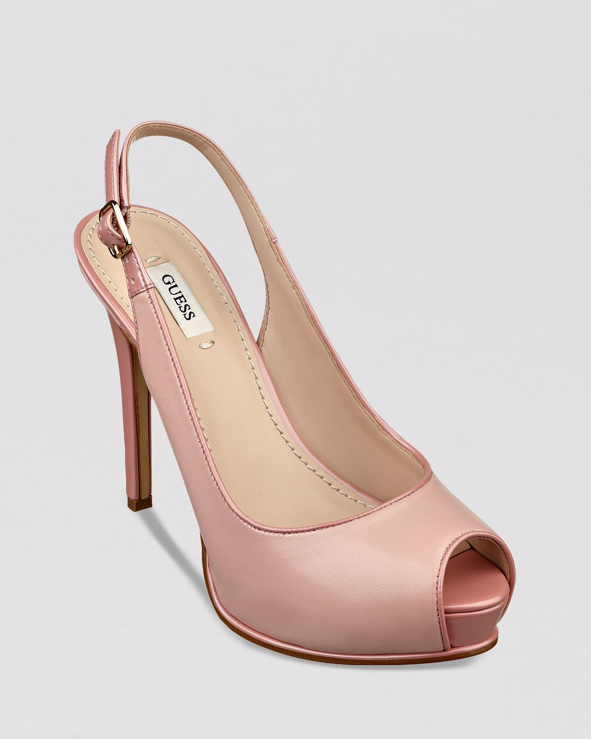 Guess Peep Toe Platform Slingback Pumps Huela High Heel In