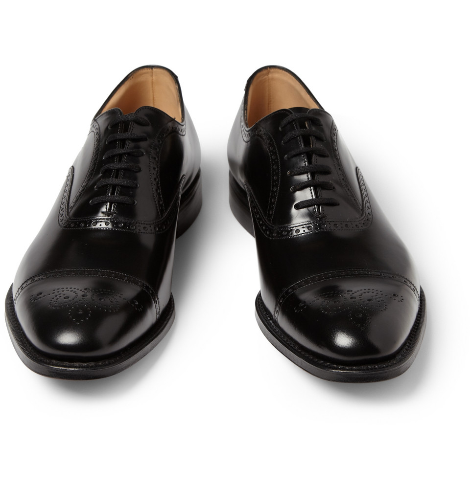 Lyst - Churchu0026#39;s London Leather Oxford Brogues In Black For Men