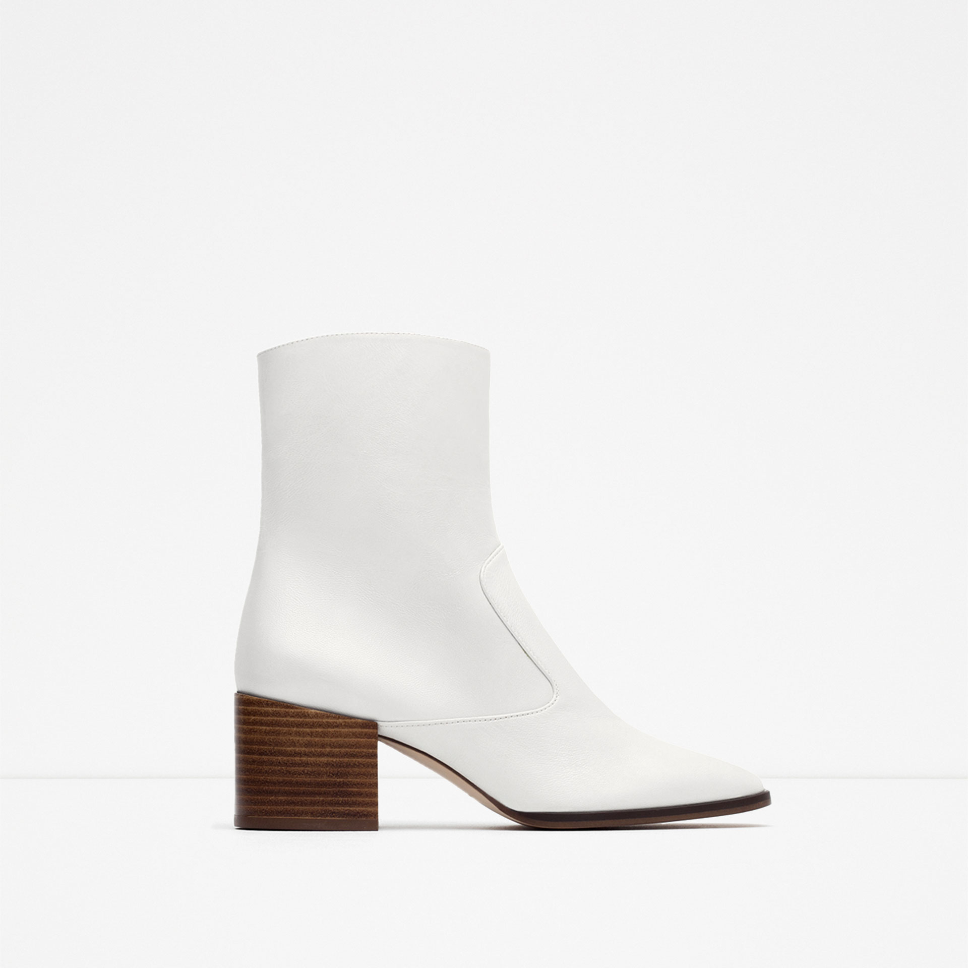 White Leather Ankle Boots - Cr Boot