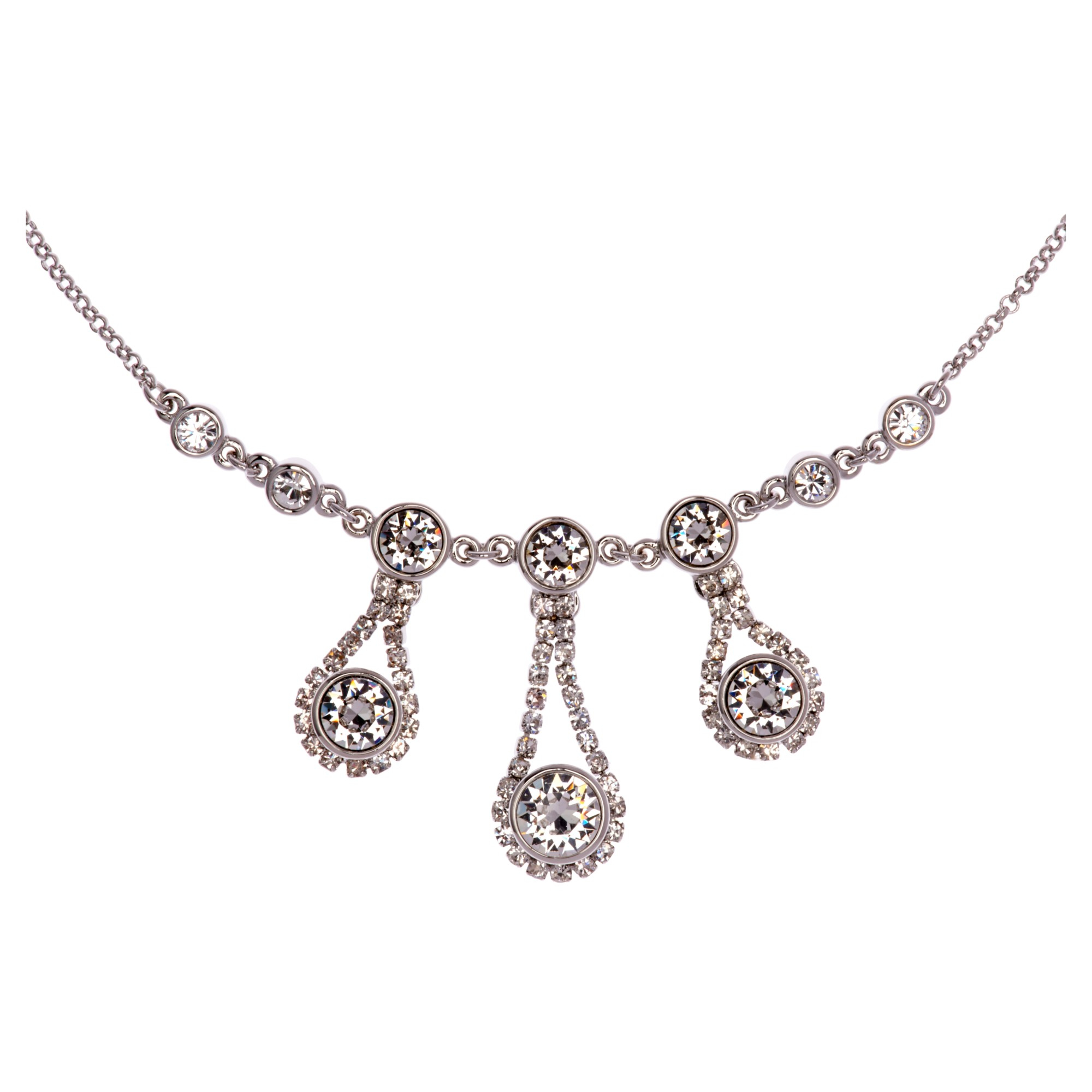Ted Baker Starley Crystal Drop Necklace in White