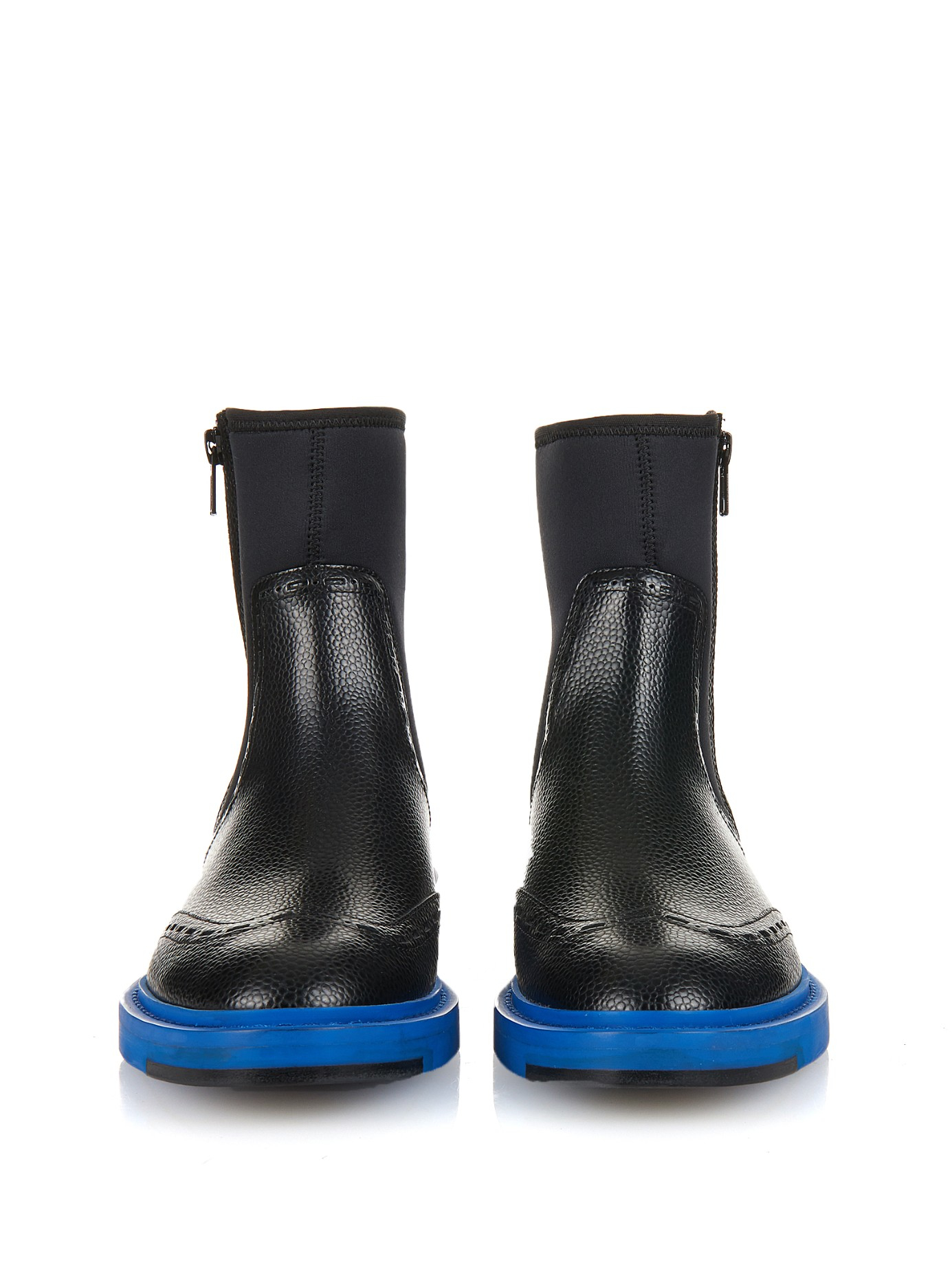 balenciaga legacy leather chelsea boots in black lyst