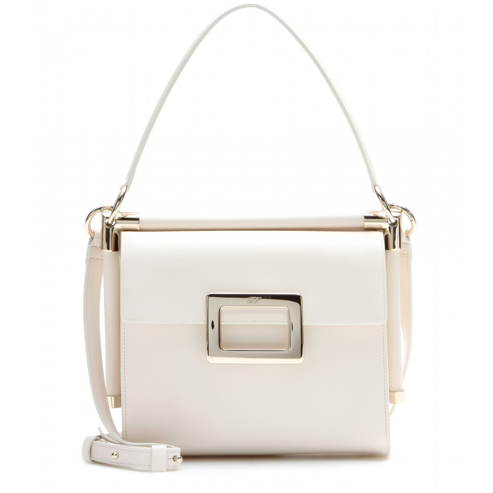 Lyst - Roger Vivier Miss Viv  Small Leather Shoulder Bag in White 5557cd3670265