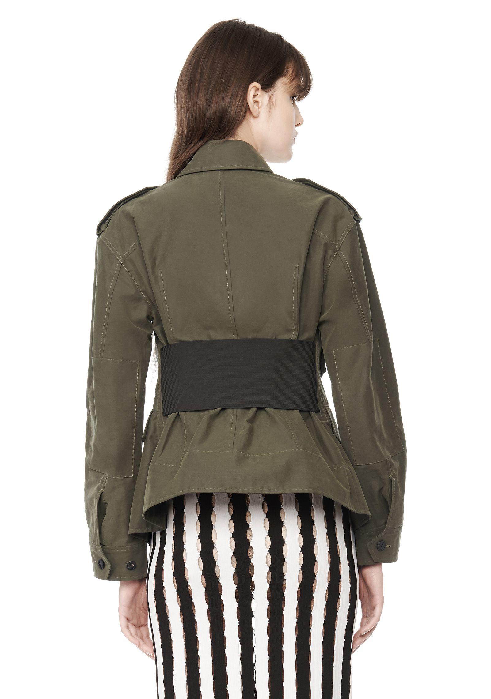 Alexander wang Exclusive Cutaway Surplus Jacket in Green | Lyst