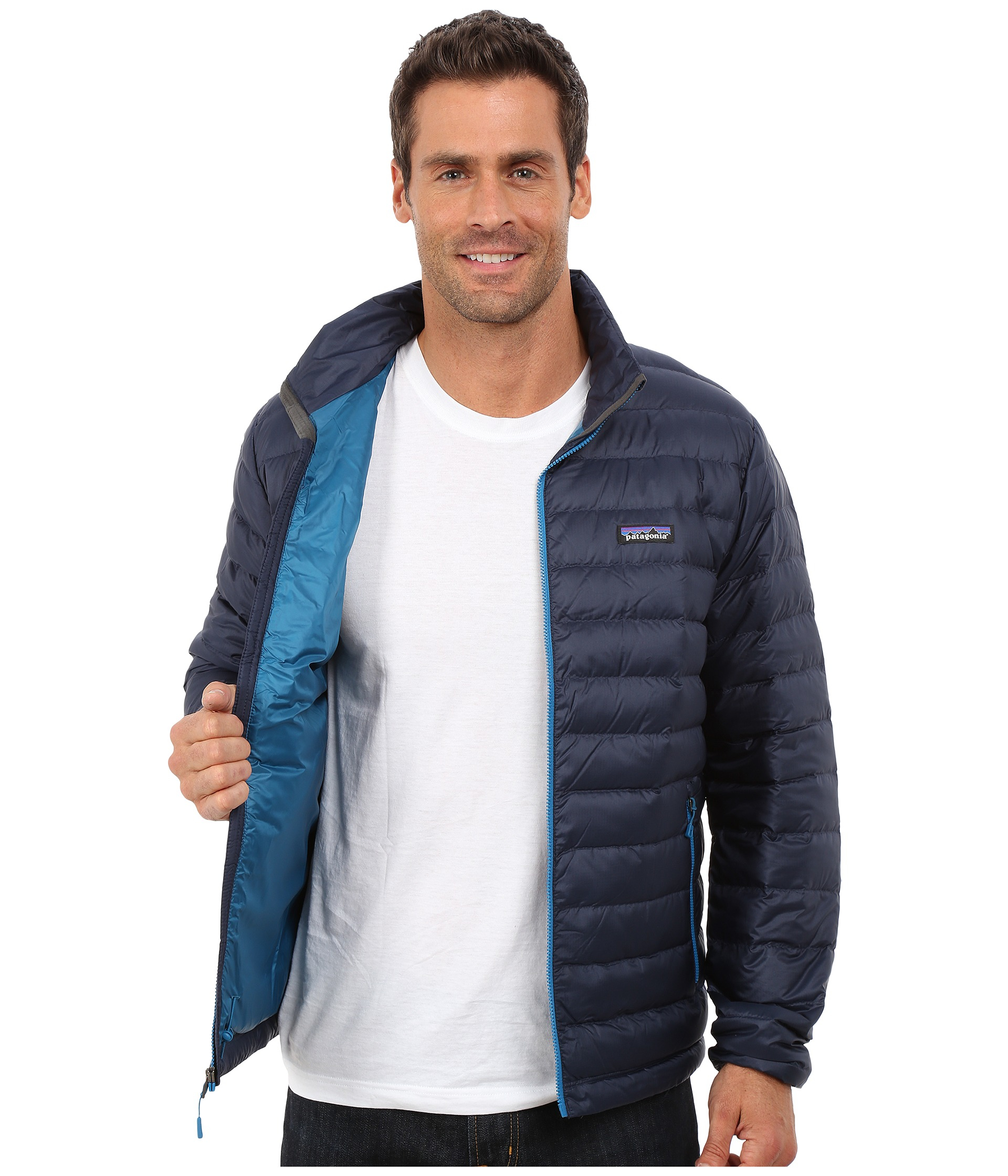 b8b4751b8 Patagonia Blue Down Sweater Jacket for men