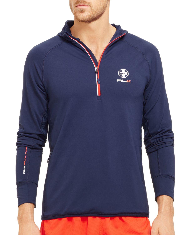 ee68306ff29 Lyst - Ralph Lauren Polo Sport Rlx Quick-wick Hoodie in Blue for Men