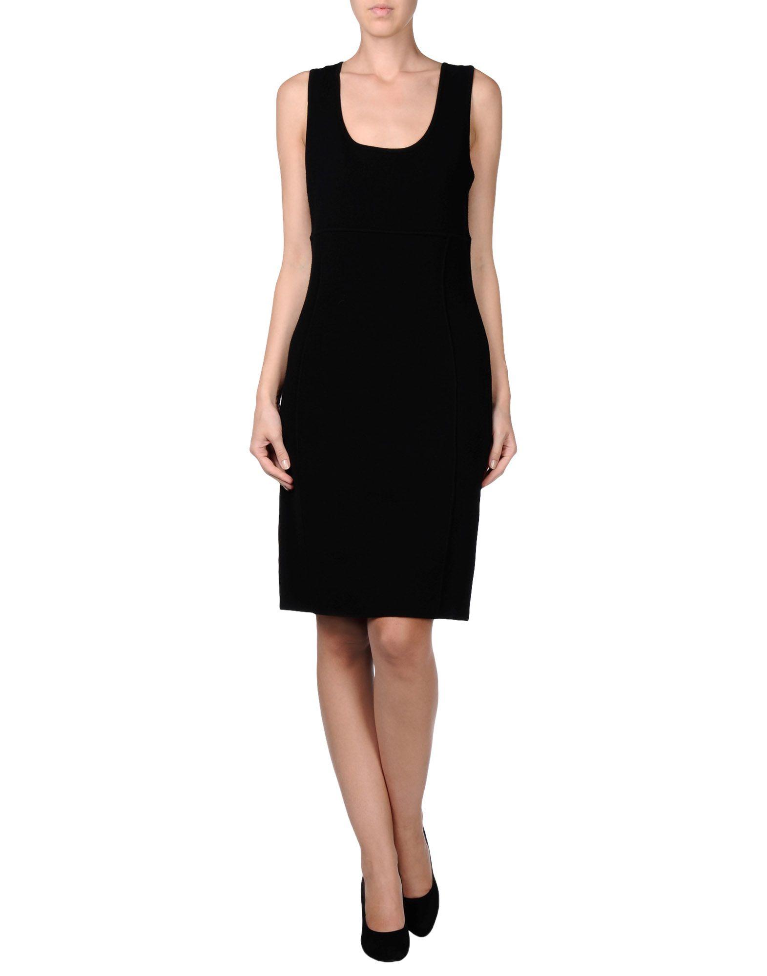 michael kors knee length dress in black lyst
