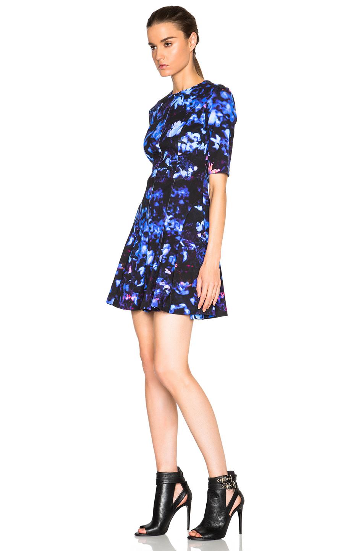 Lyst Mcq Long Flirty Dress In Blue