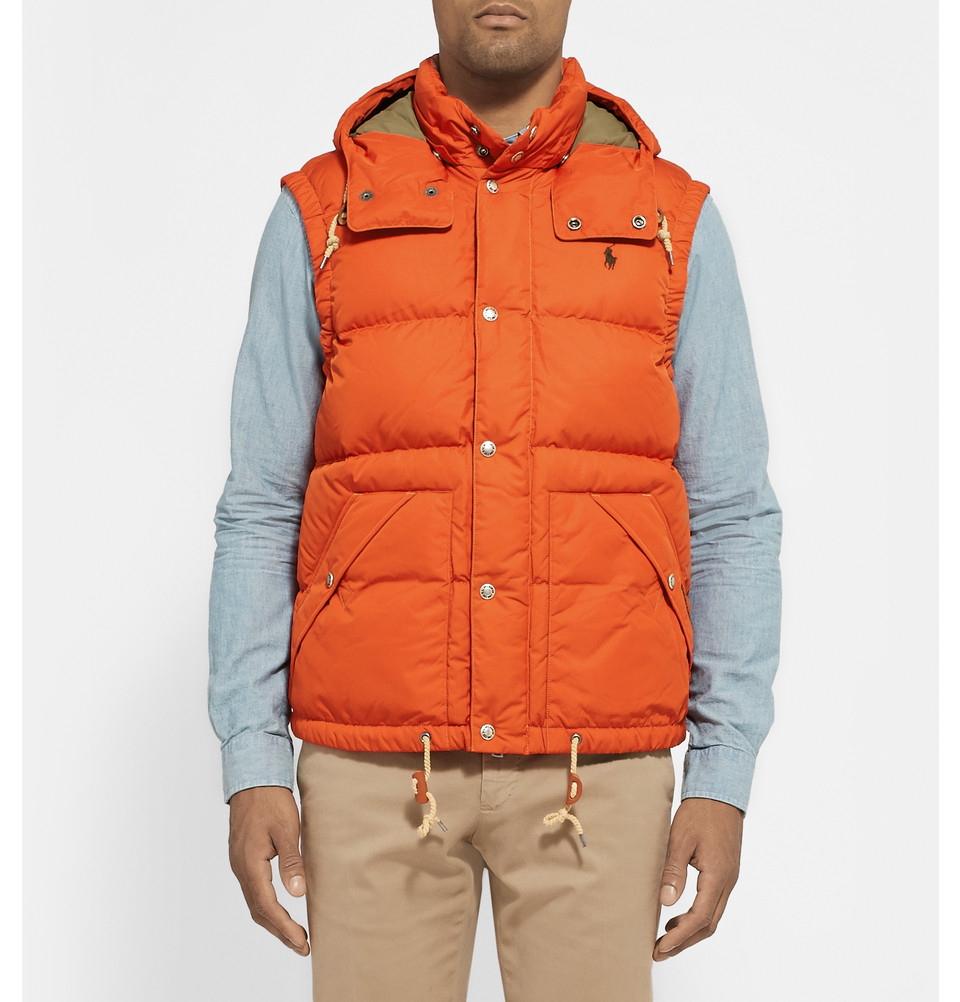 Lyst - Polo Ralph Lauren Elmwood Down-Filled Quilted Hooded Gilet in ... 546e52ff749b
