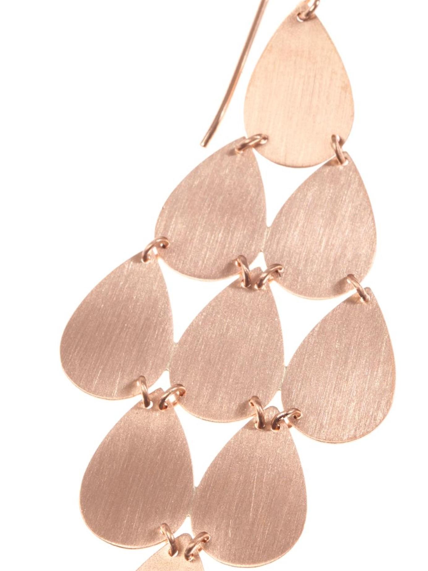 Irene neuwirth Rose Gold Chandelier Earrings in Pink