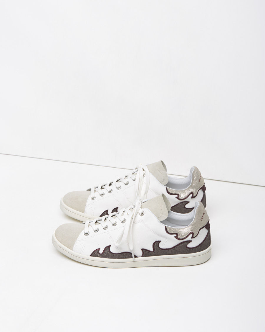 toile isabel marant gilly low top sneakers in metallic lyst. Black Bedroom Furniture Sets. Home Design Ideas