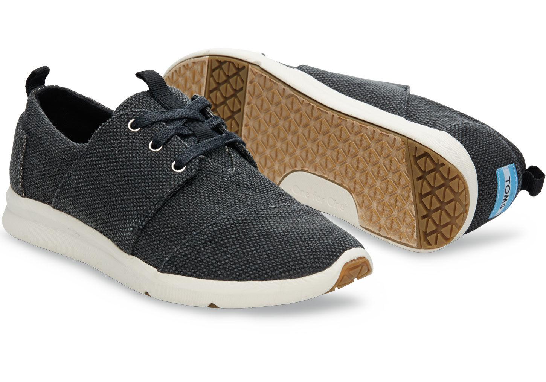 Texture Stripe Gray Women Canvas Casual Shoes Original Sneakers