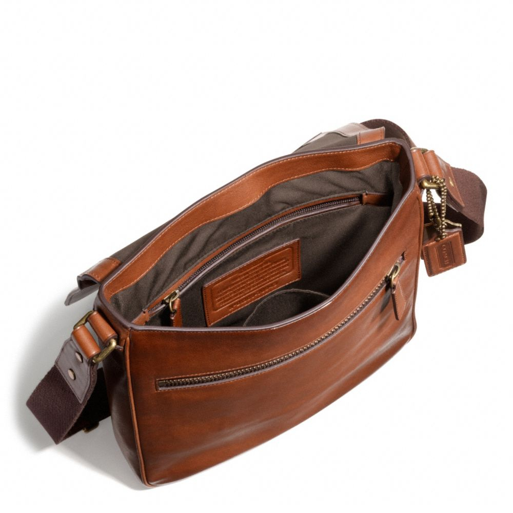 coach bleecker map bag in leather in brown for men lyst