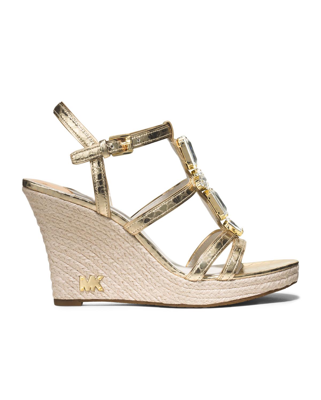 Michael Kors Michael Jayden Jeweled Wedge Sandal In
