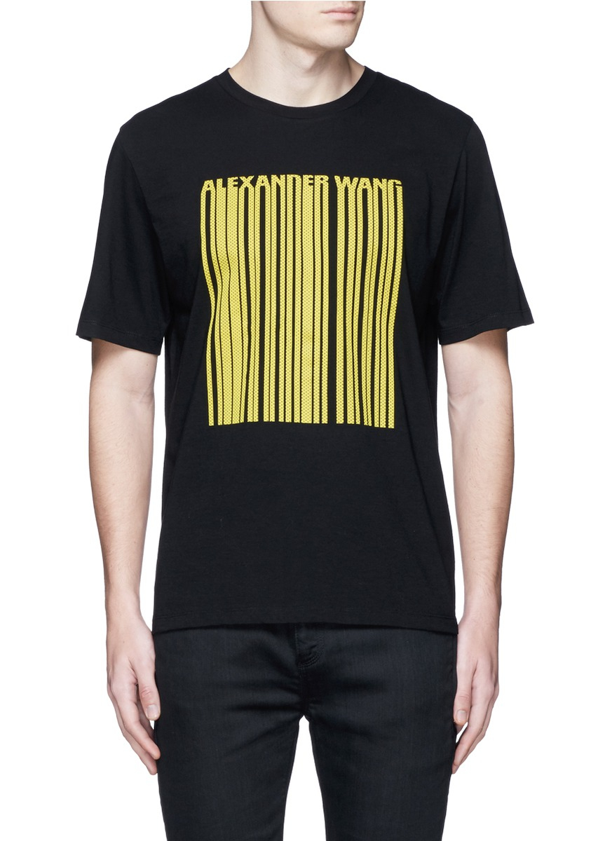 Alexander Wang T Shirt In Black For Men Lyst