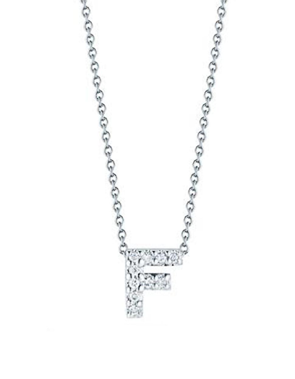women s metallic tiny treasures diamond and 18k white gold love letter