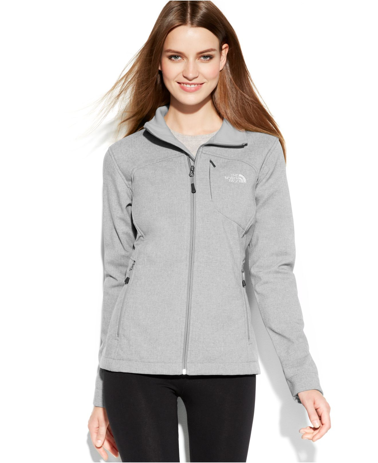 the north face apex bionic soft shell jacket in gray high. Black Bedroom Furniture Sets. Home Design Ideas