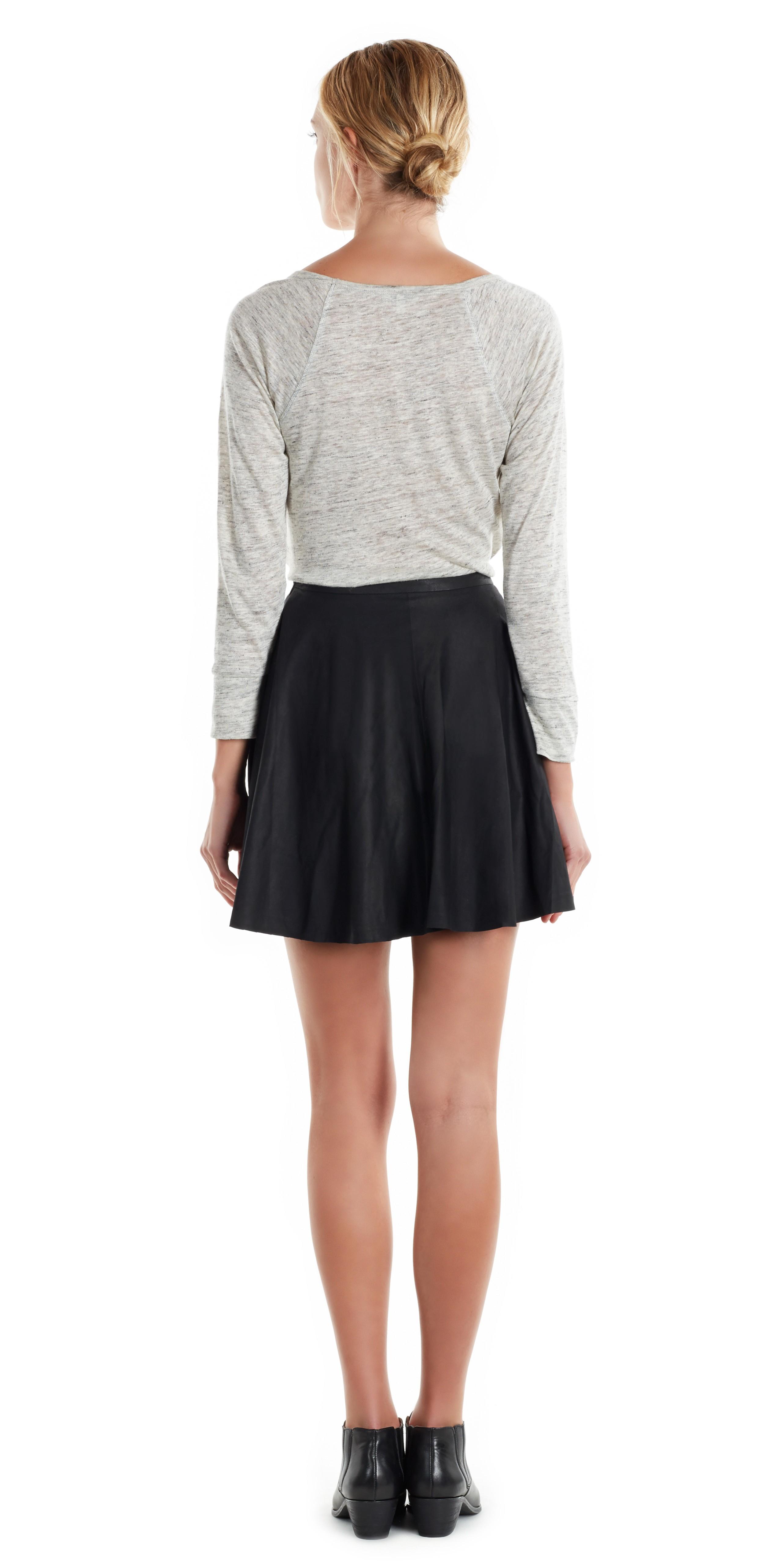 joie kyla leather skirt in black lyst