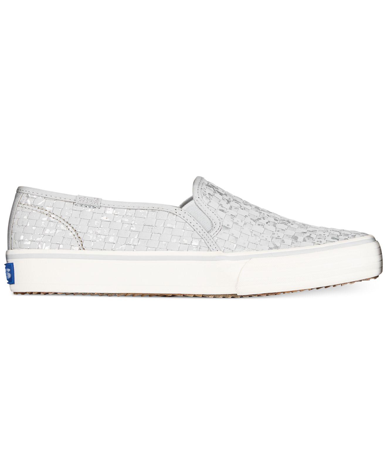 aa2ec4fd73 Keds Gray Women's Double Decker Basketweave Slip-on Sneakers