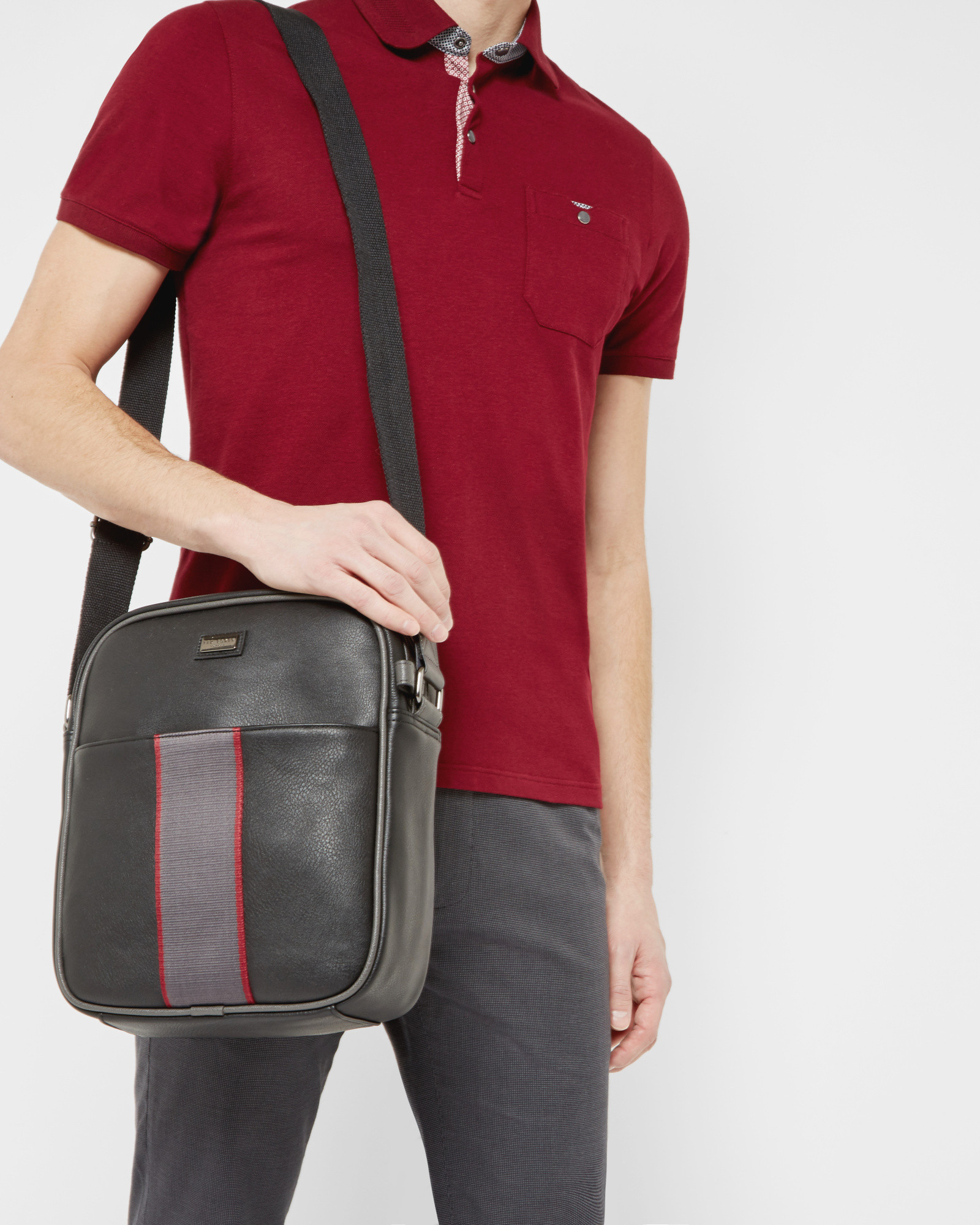 Ted Baker Striped Webbing Flight Bag in Black for Men - Lyst 1d675f727b8a4