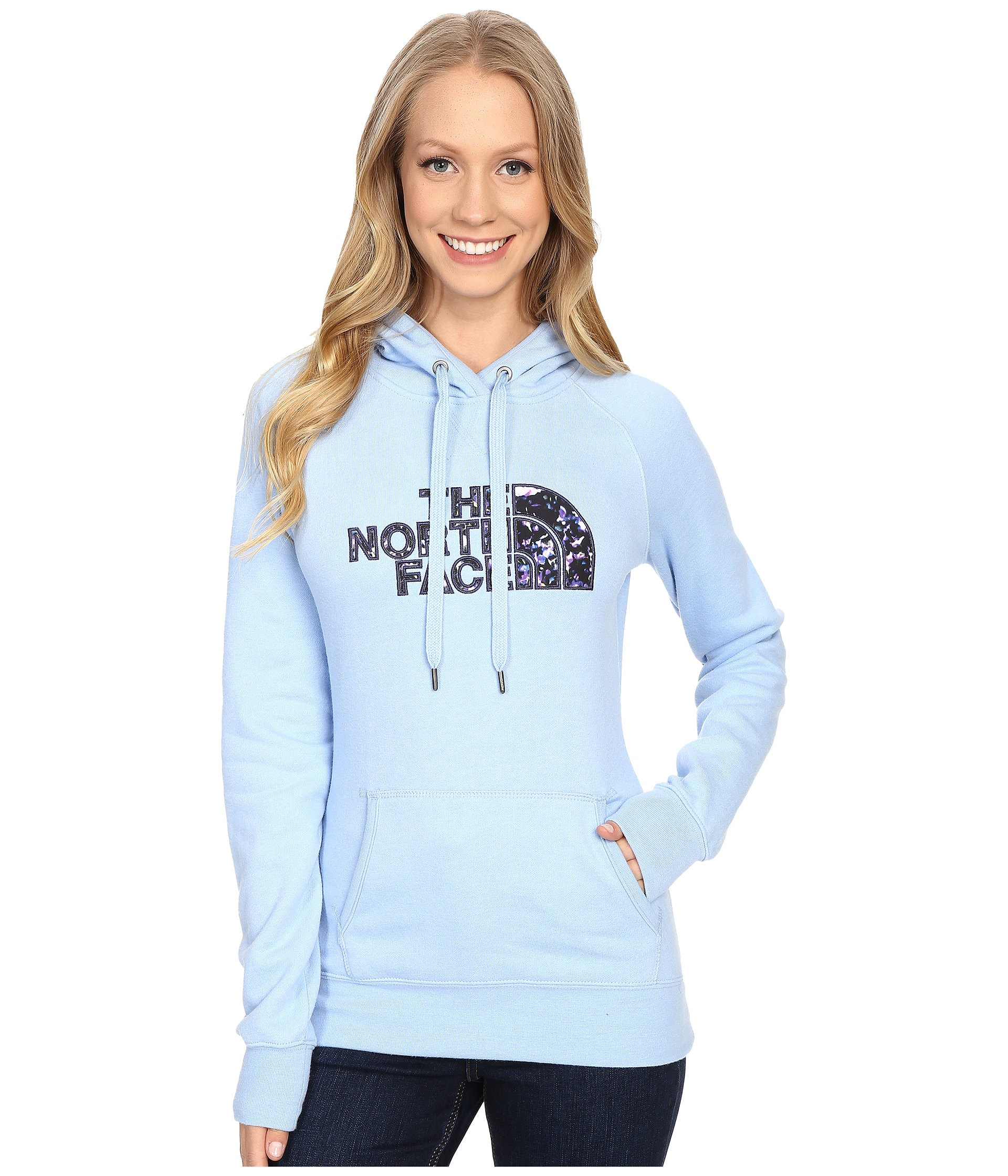 b37be4fdfb2 Lyst - The North Face Avalon Crystal Floral Pullover Hoodie in Blue