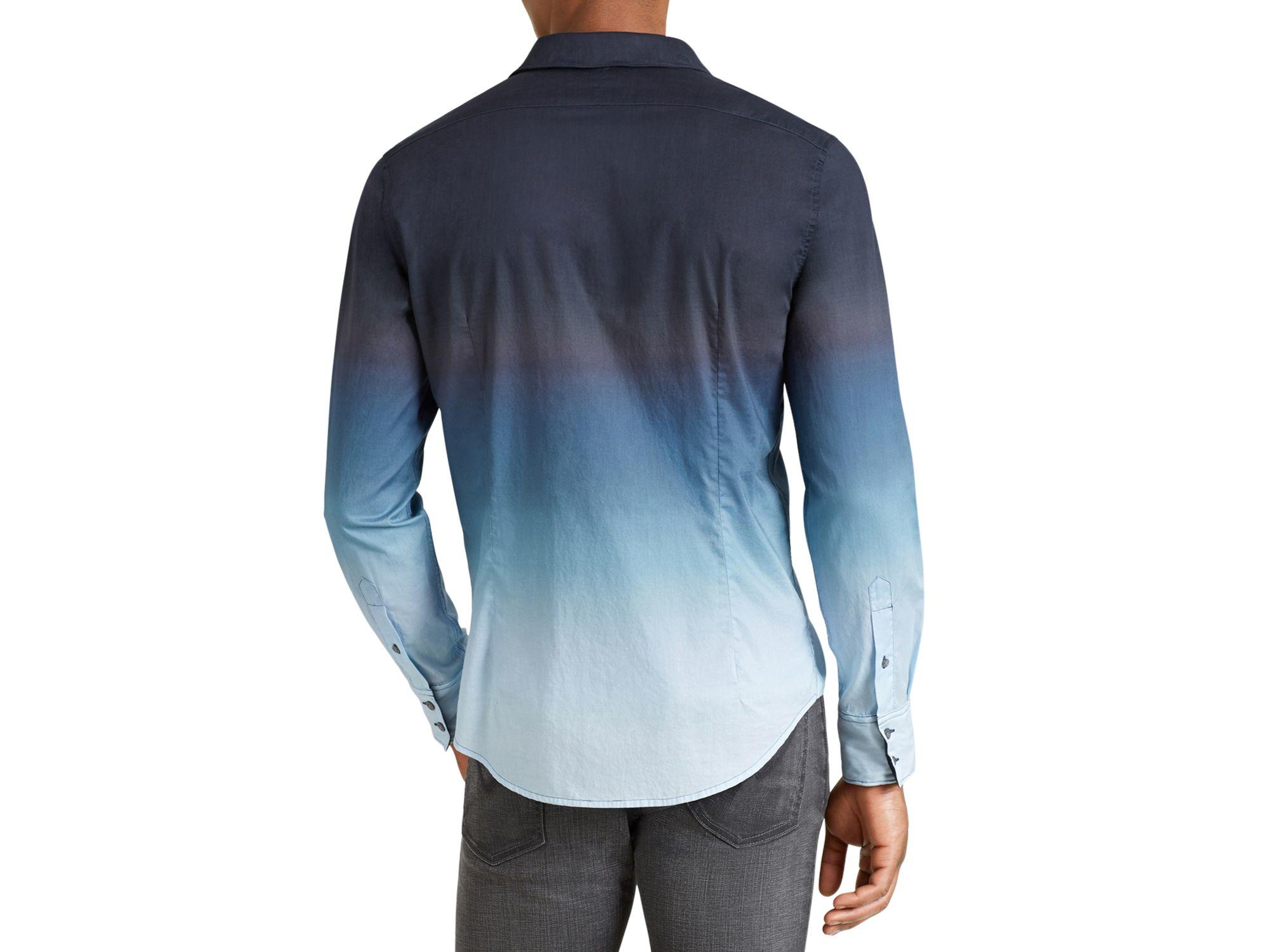 Lyst John Varvatos Dip Dye Slim Fit Button Down Shirt In