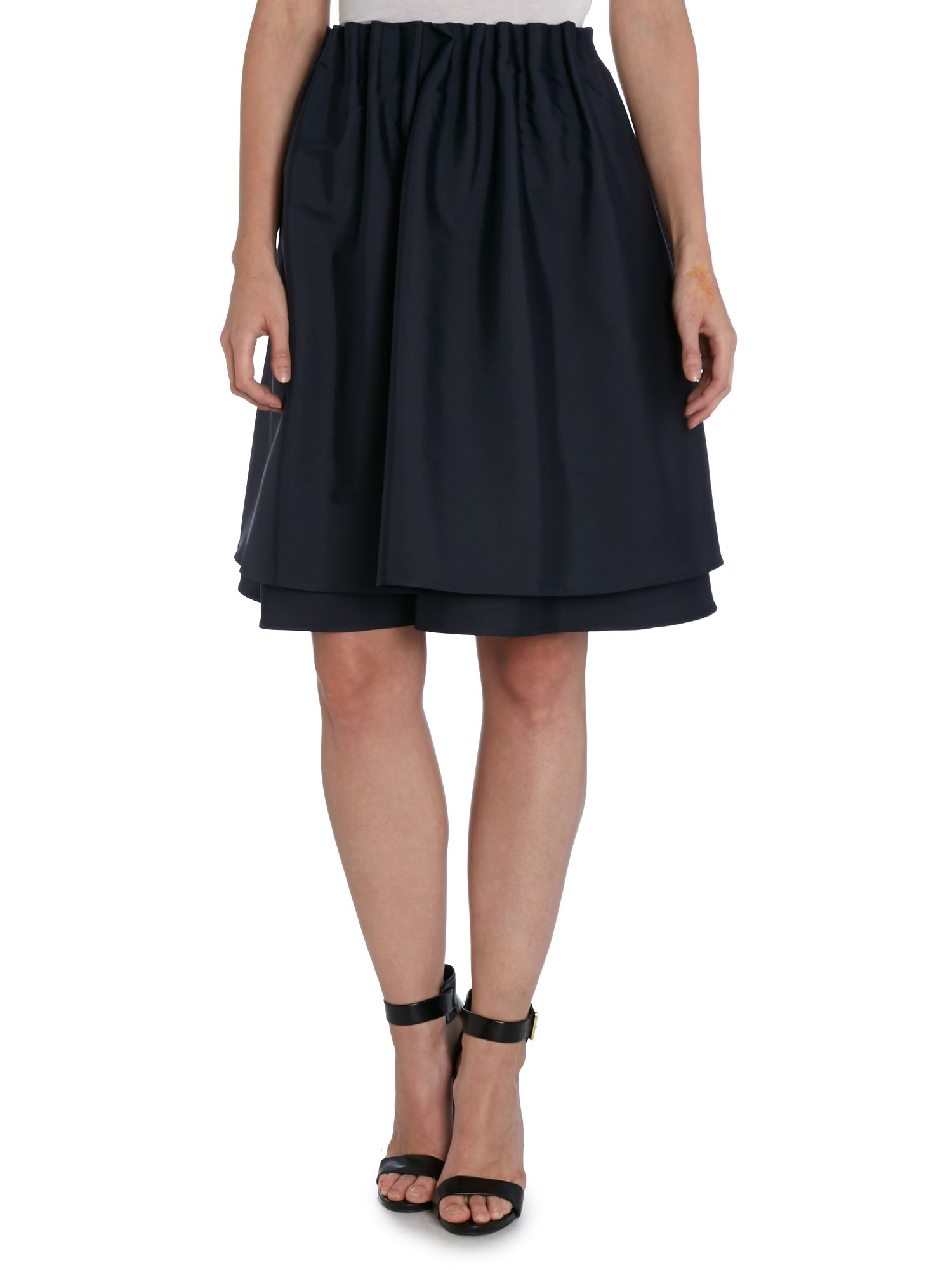 Armani A Line Gathered Waist Skirt in Blue