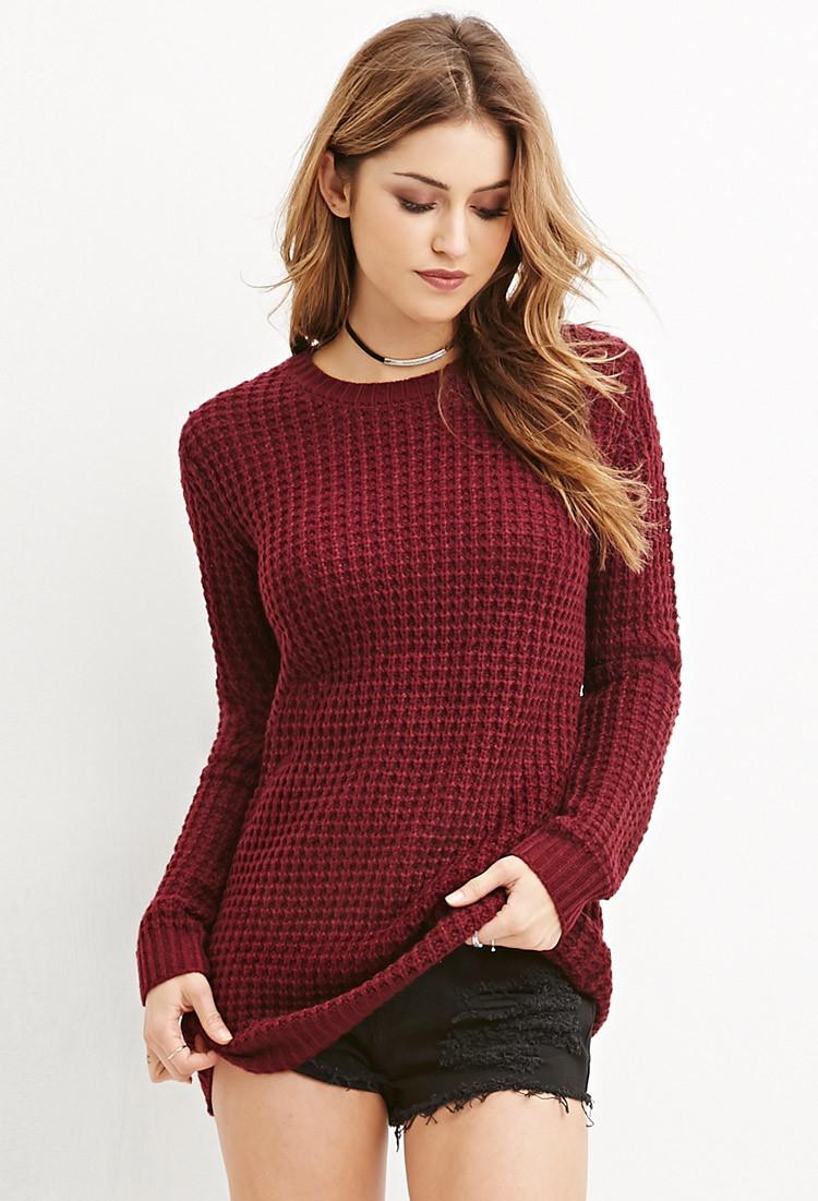 Burgundy Loose Sweater