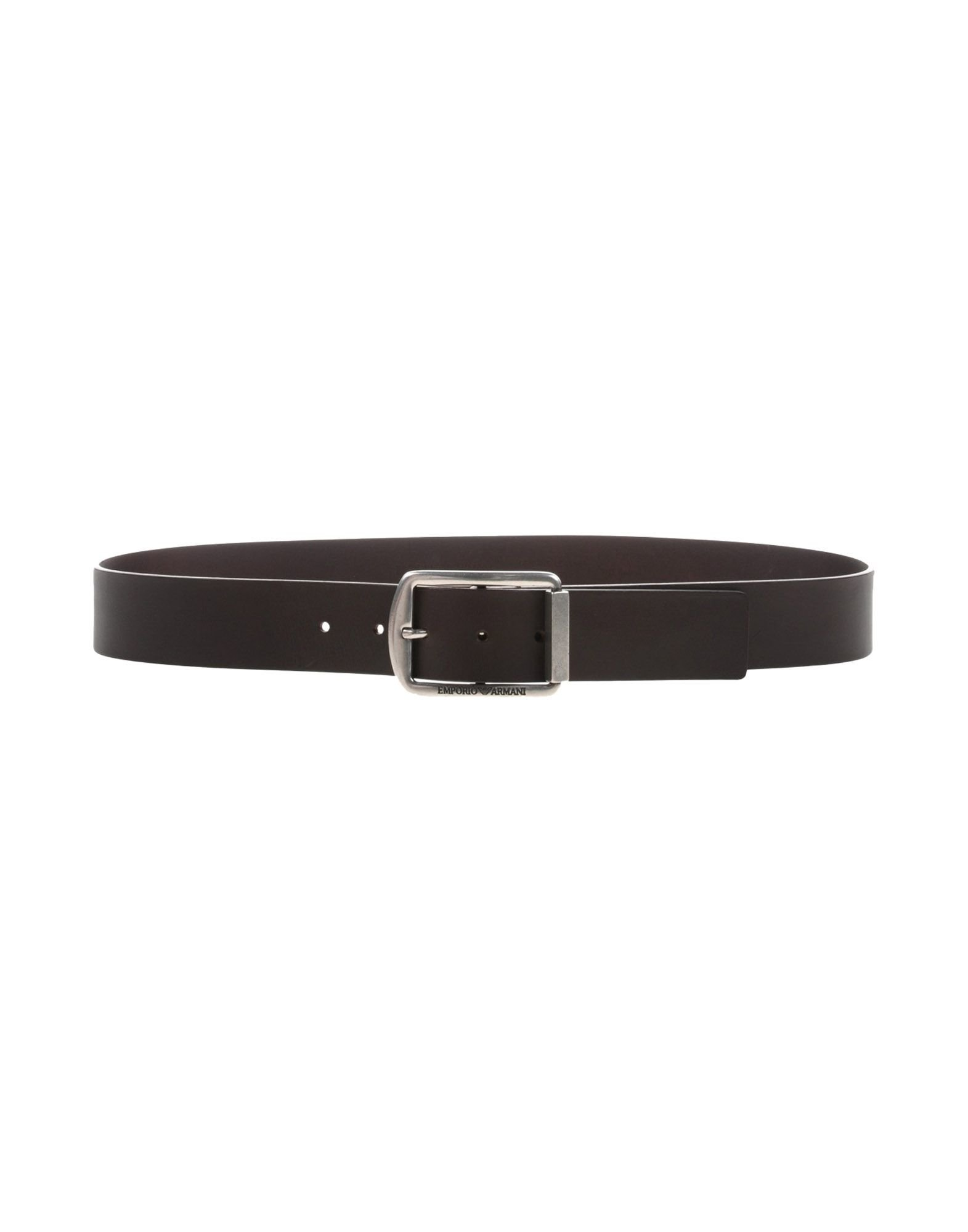 emporio armani belt in brown for brown lyst