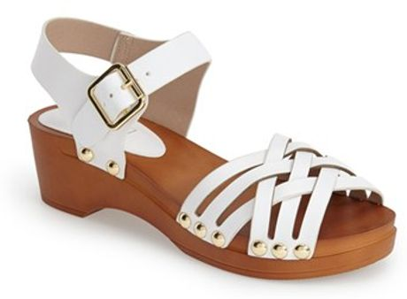 be389d7f962f Topshop Clog Wedge Sandals in White