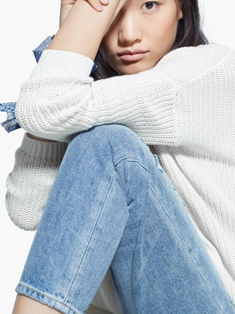 e19ddad941 Mango Slim-Fit Cropped Nancy Jeans in Blue - Lyst