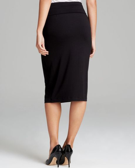 eileen fisher the fisher project foldover pencil skirt in