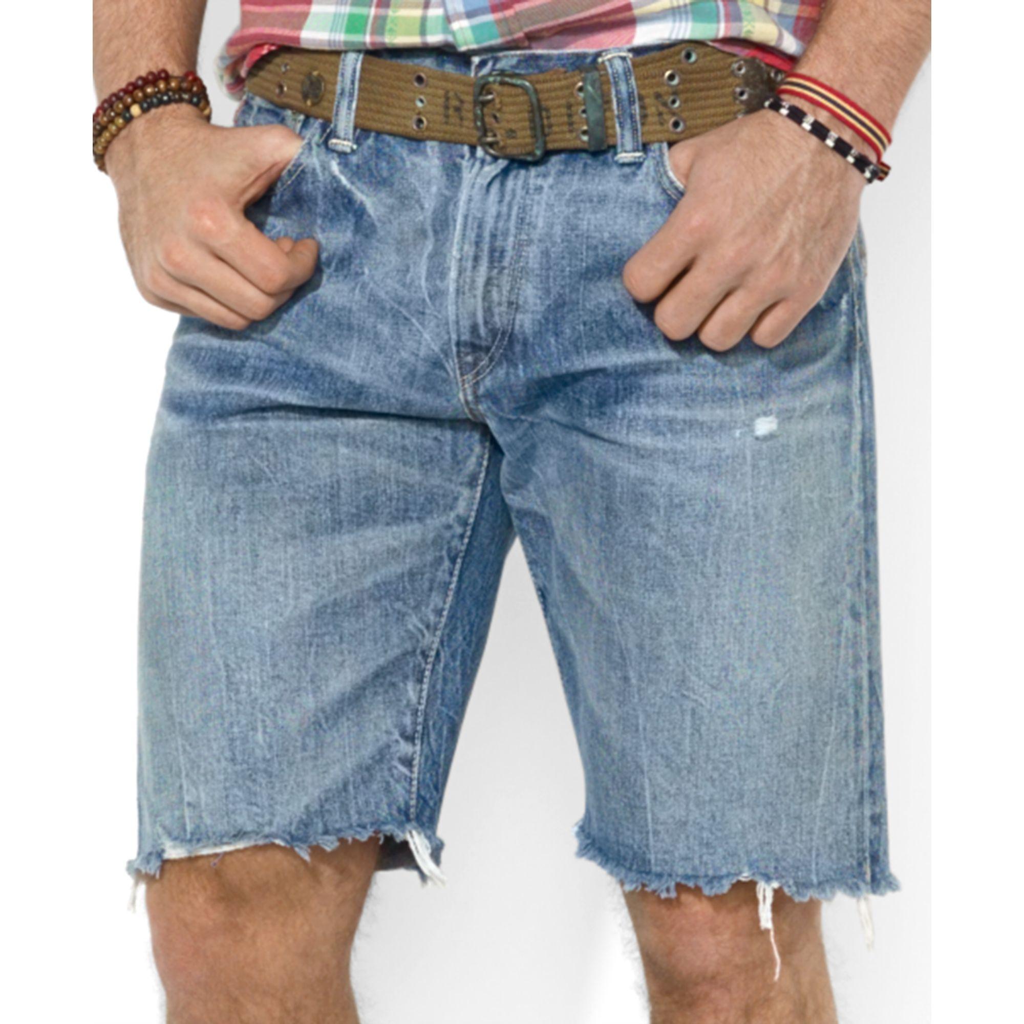 213b56724 Polo Ralph Lauren Polo Indigodyed Denim Cutoff Shorts in Blue for ...