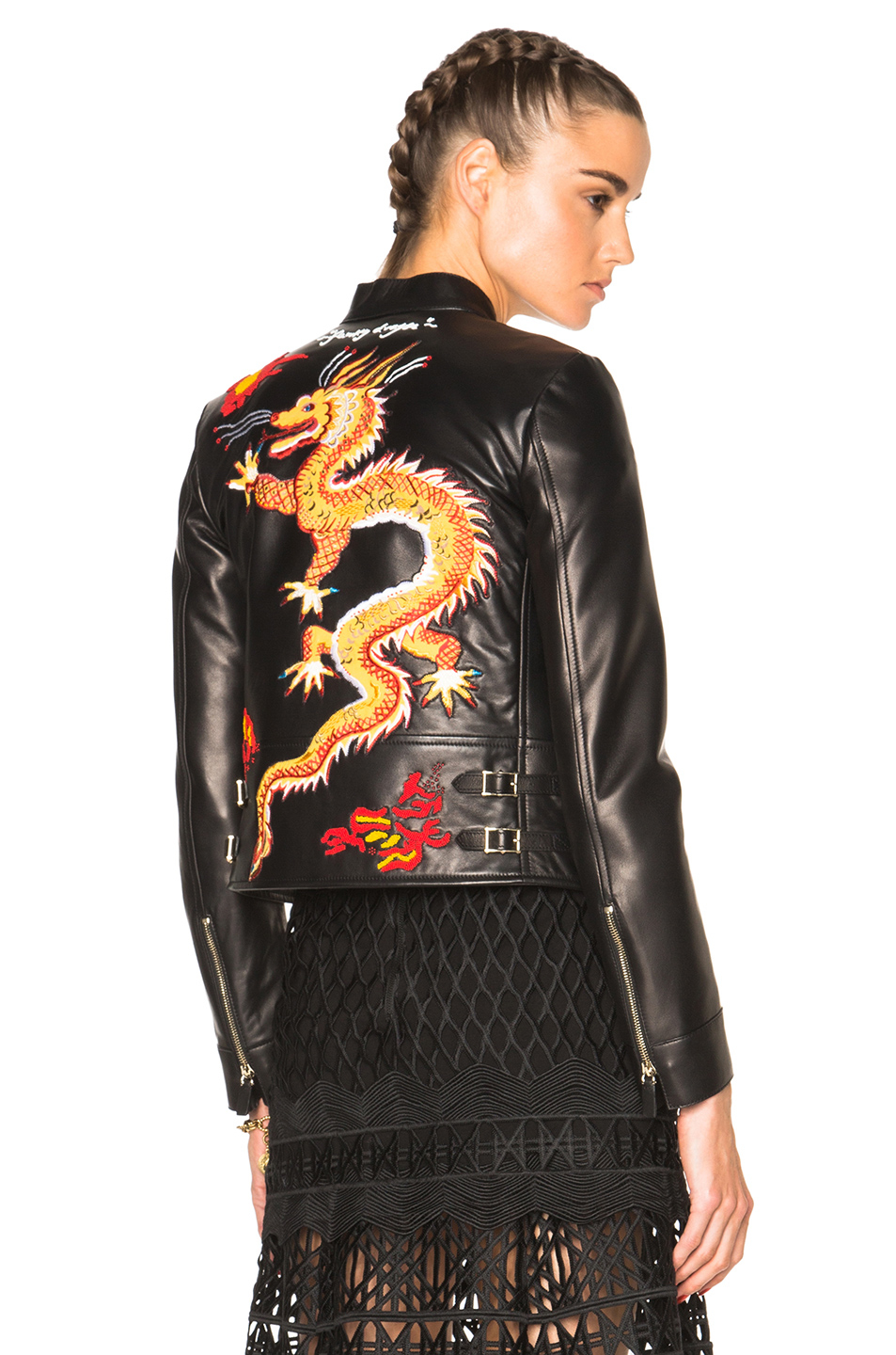 Valentino Dragon Embroidery Jacket In Black  Lyst