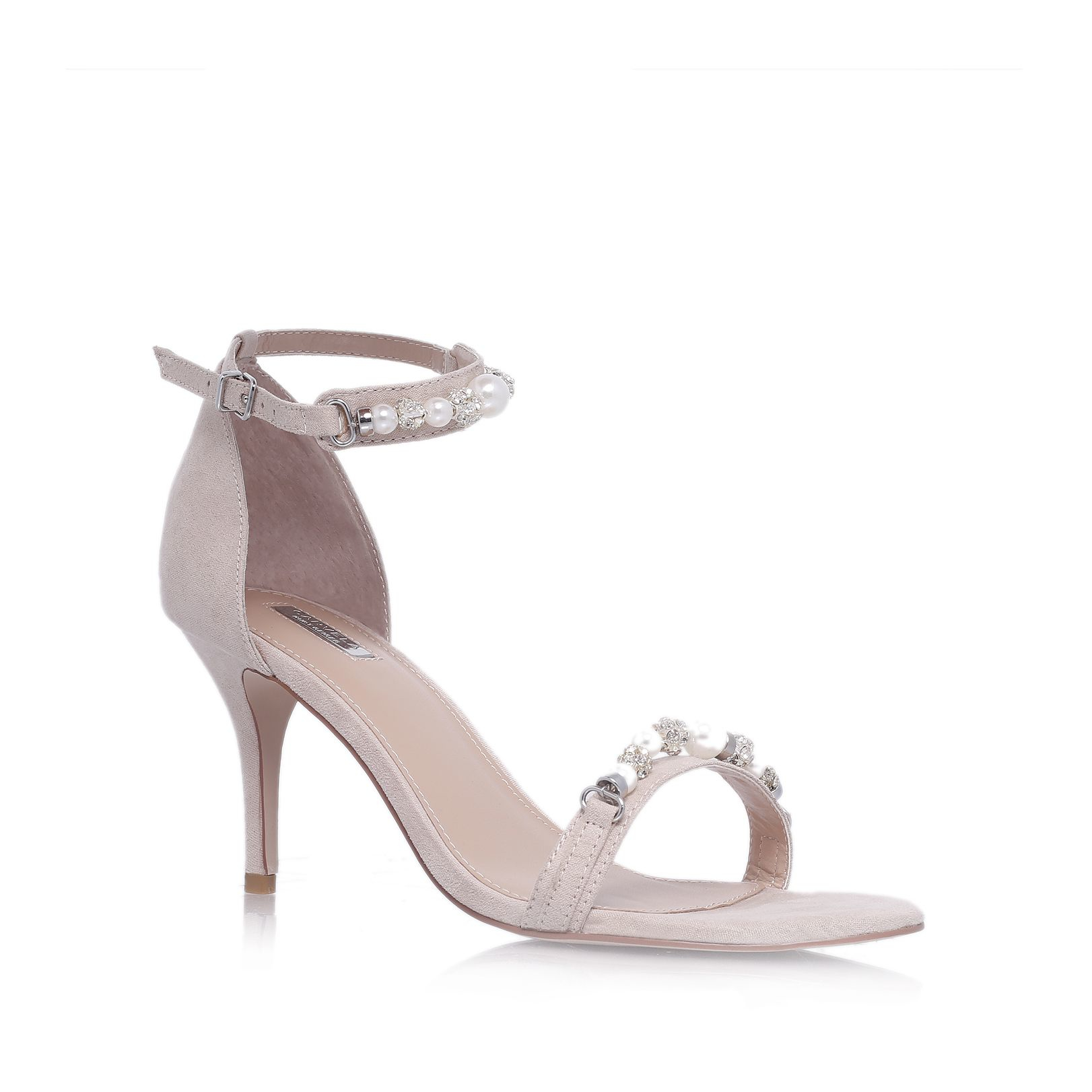 KG by Kurt Geiger Bethany Patent Studded Bow Court Shoes
