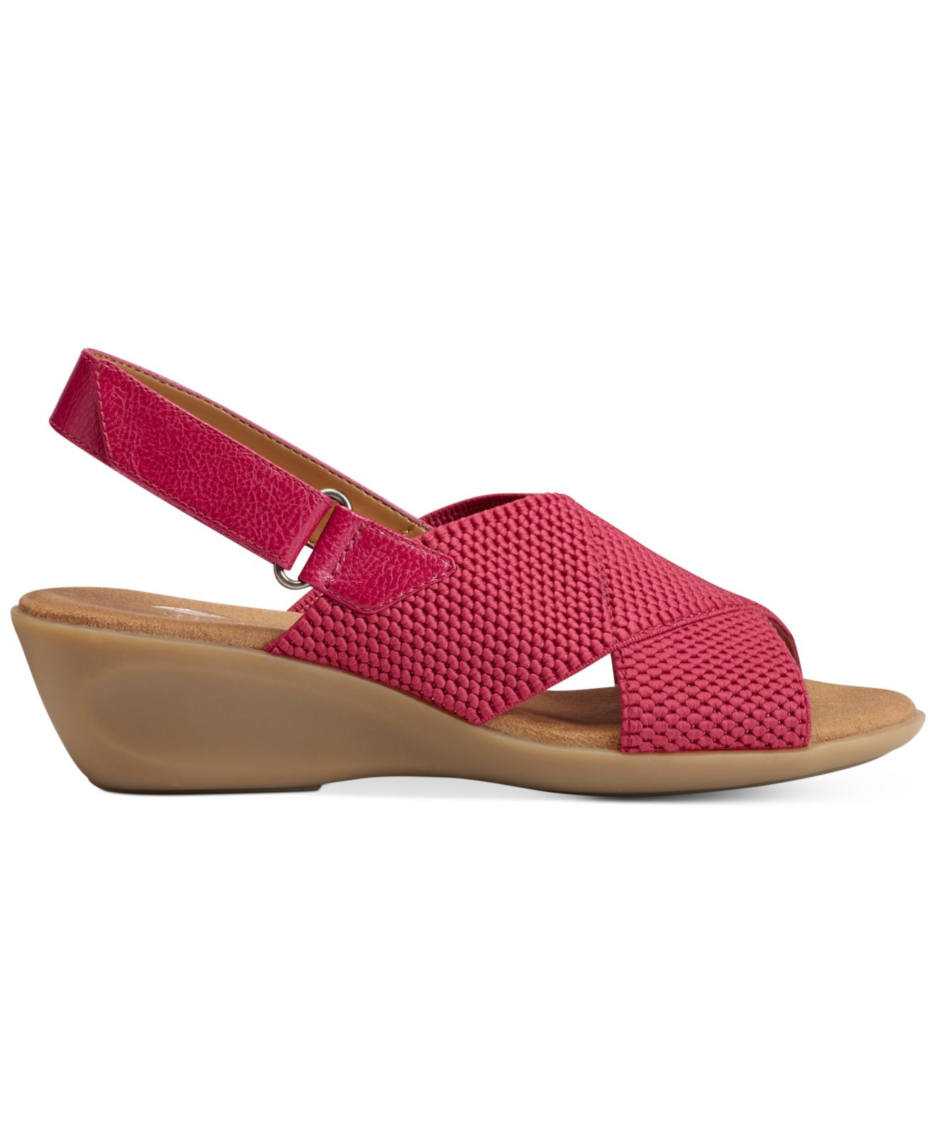 aerosoles badlands wedge sandals in pink lyst