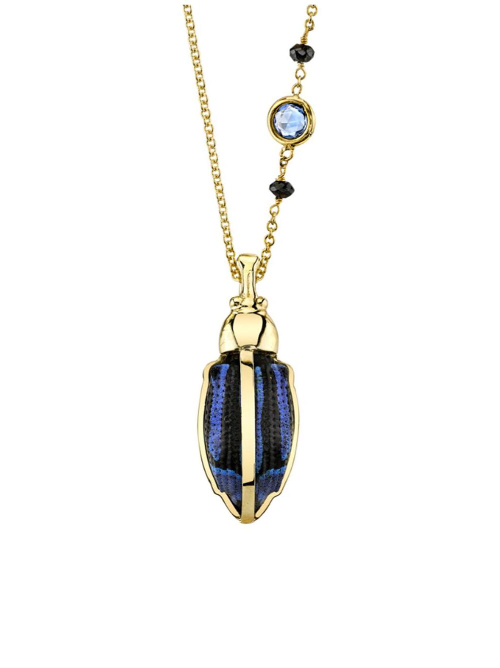 Daniela Villegas Sapphire Necklace in Blue
