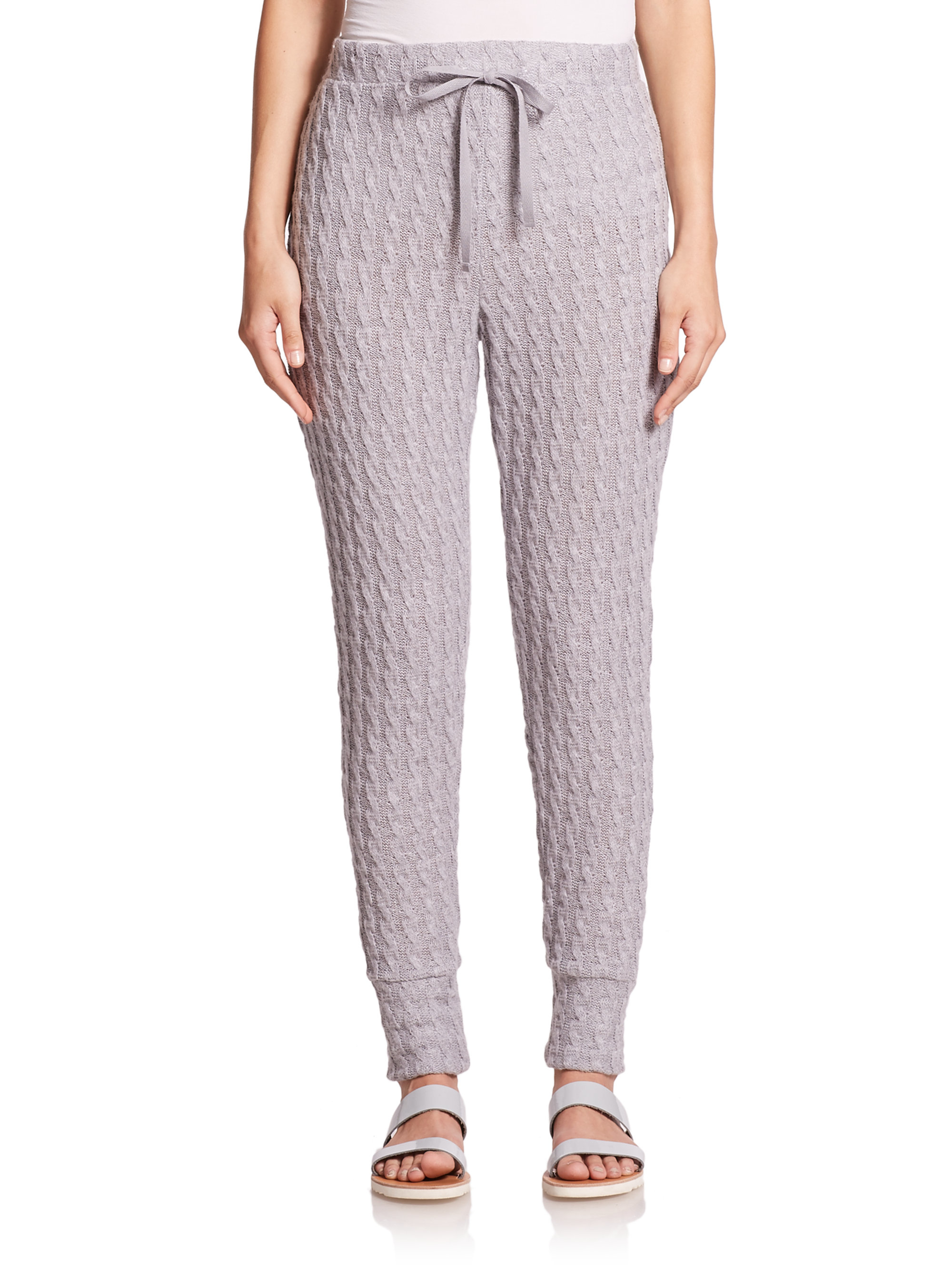 Csbla Jasmin Cable-knit Pants in Gray | Lyst