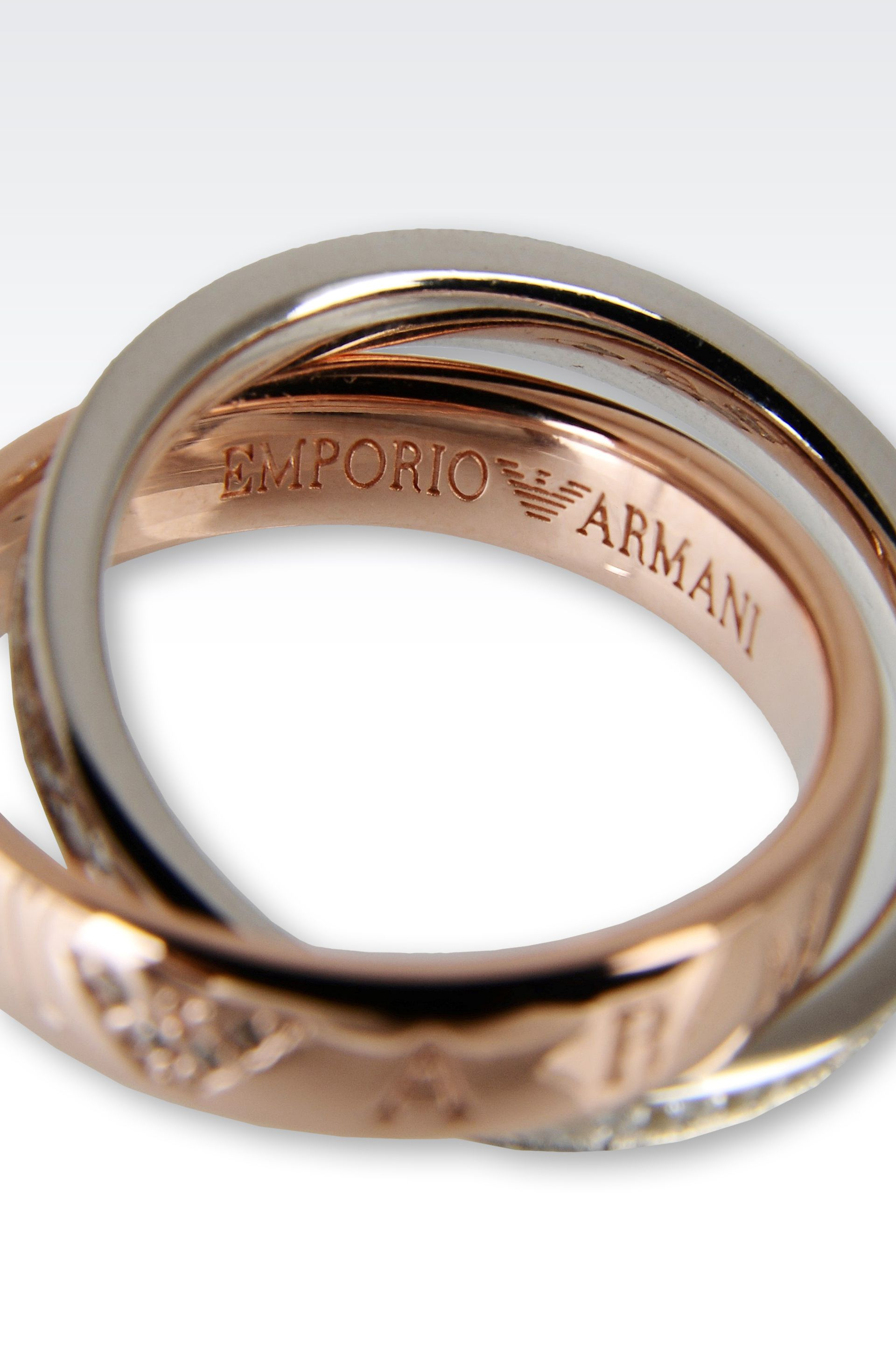 Emporio armani Ring in Pink for Men