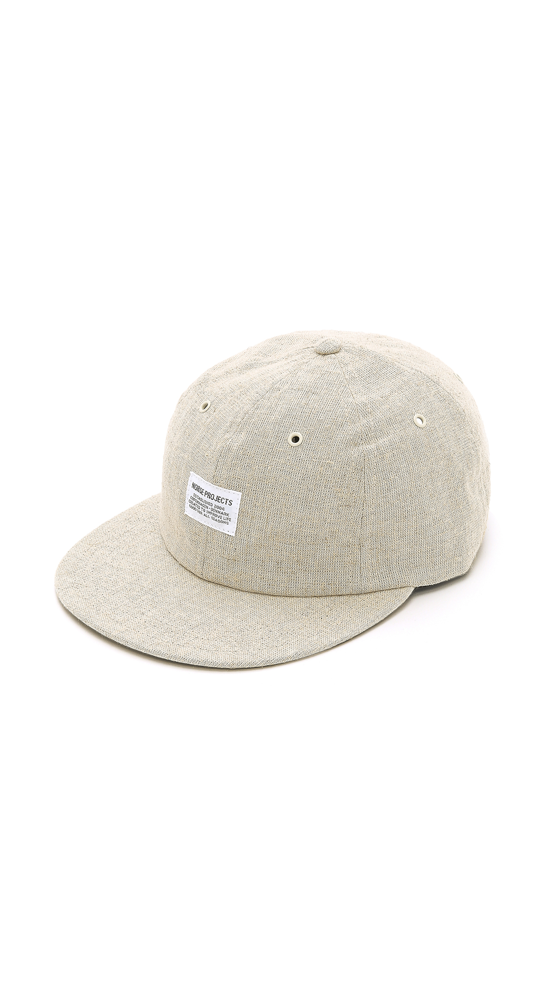 2ecf3a9c4b3 Norse Projects Linen 6 Panel Cap in Natural for Men - Lyst
