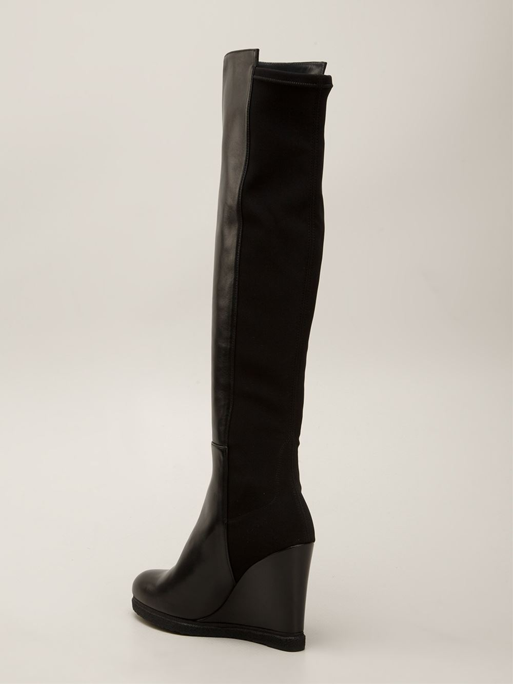 1c82ba5386f Stuart weitzman demiswoon boots in black lyst jpg 1000x1334 Stuart weitzman  demiswoon wedge boot