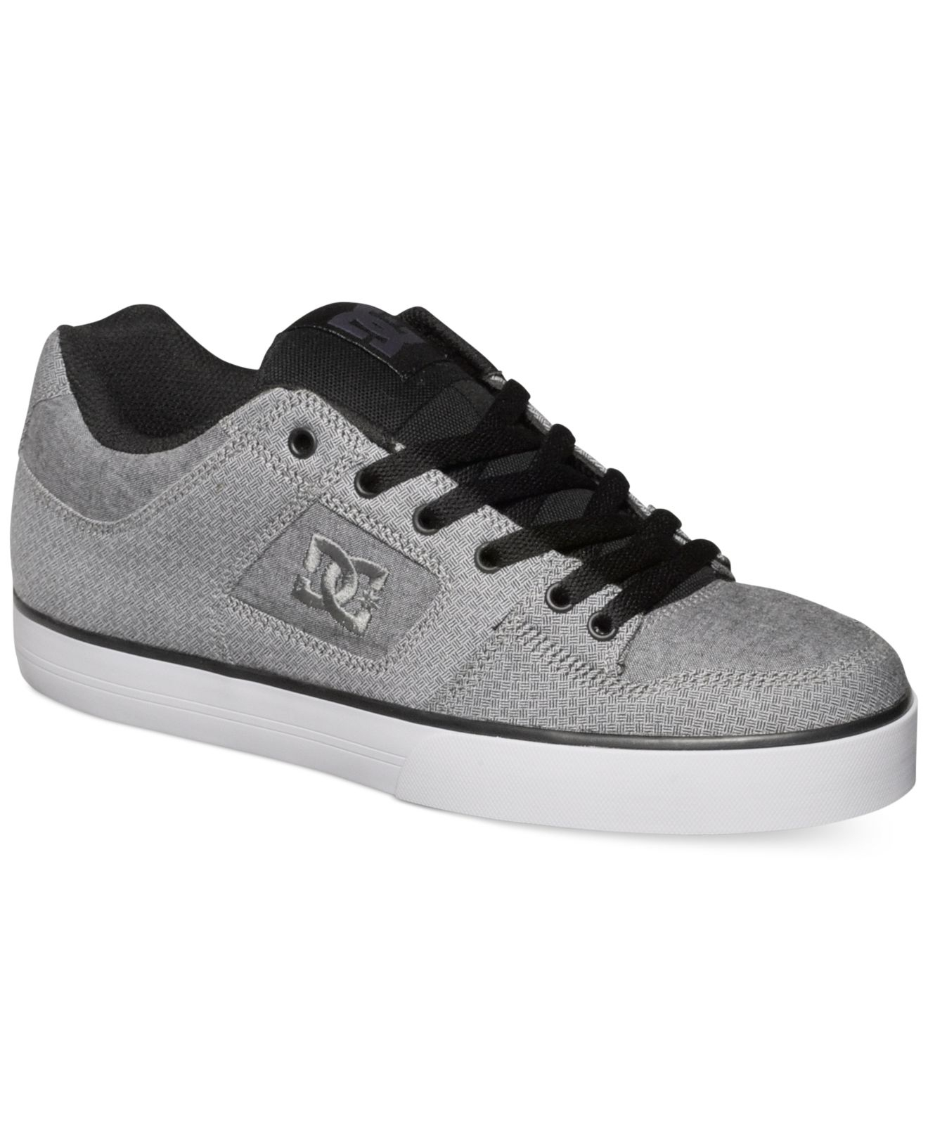 lyst dc shoes pure tx se sneakers in gray for men. Black Bedroom Furniture Sets. Home Design Ideas