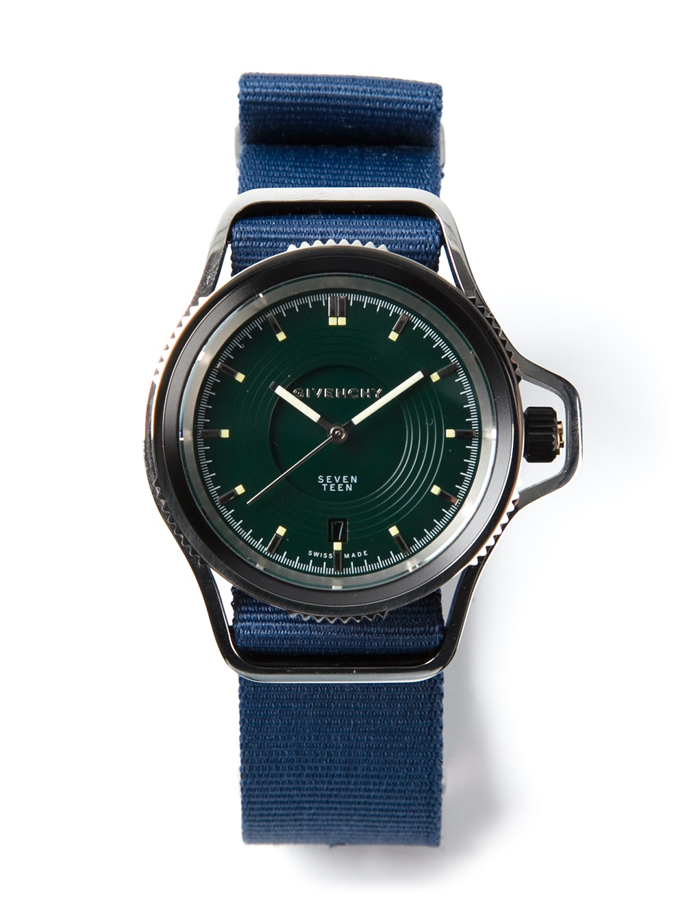 Givenchy seventeen watch in blue for men lyst for Givenchy watches