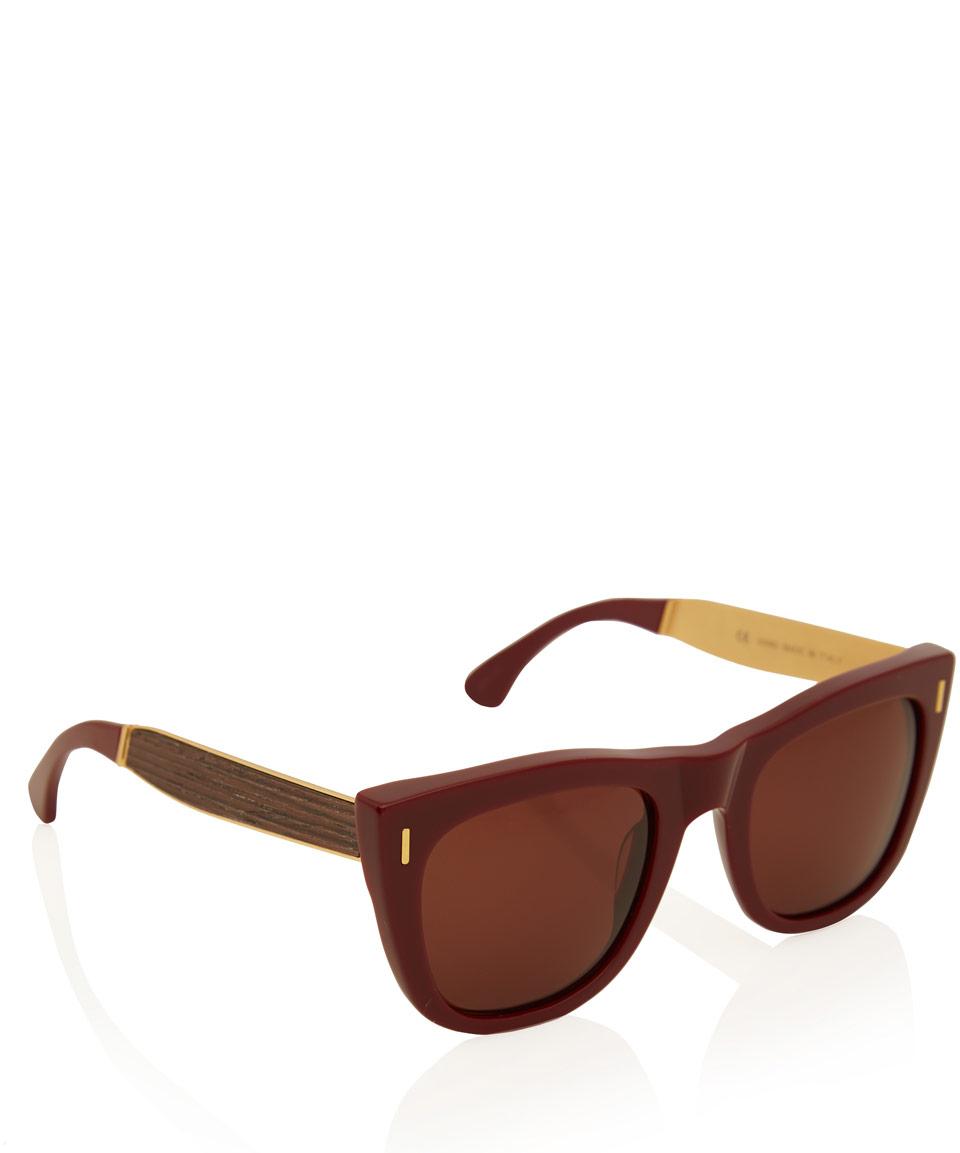 Retrosuperfuture Burgundy Gals Francis G Wood Sunglasses in Brown for Men