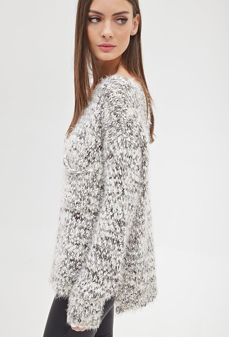 Forever 21 Fuzzy Marled Knit Sweater You've Been Added To The ...