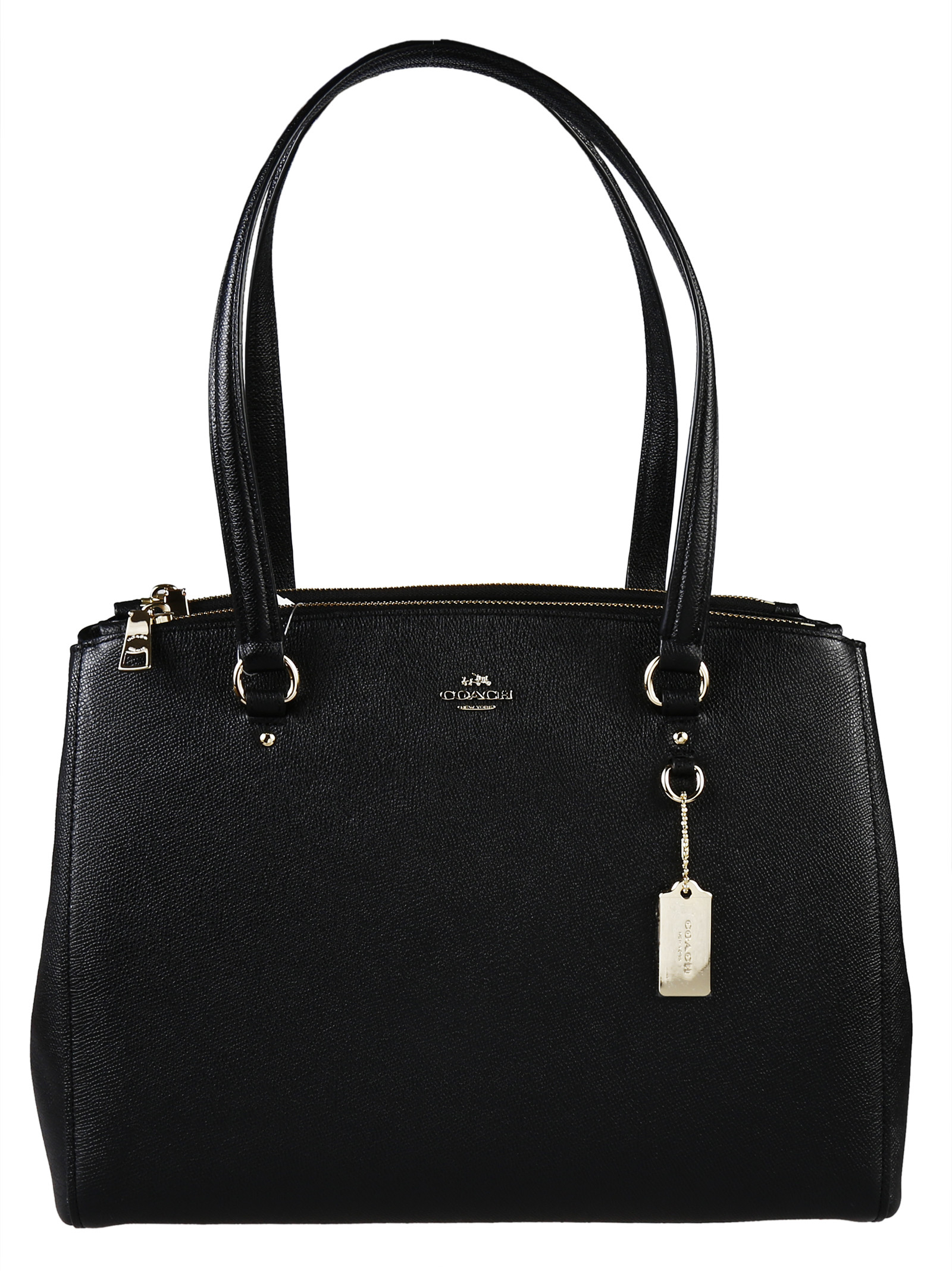 Coach Stanton Crossgrain Leather Bag in Black | Lyst