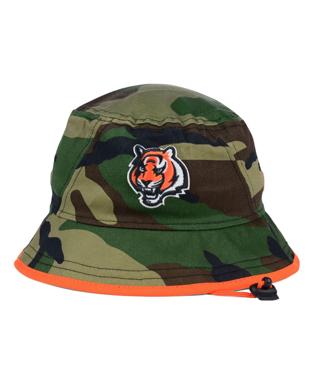 sports shoes 58409 48870 KTZ Cincinnati Bengals Camo Pop Bucket Hat in Green for Men - Lyst