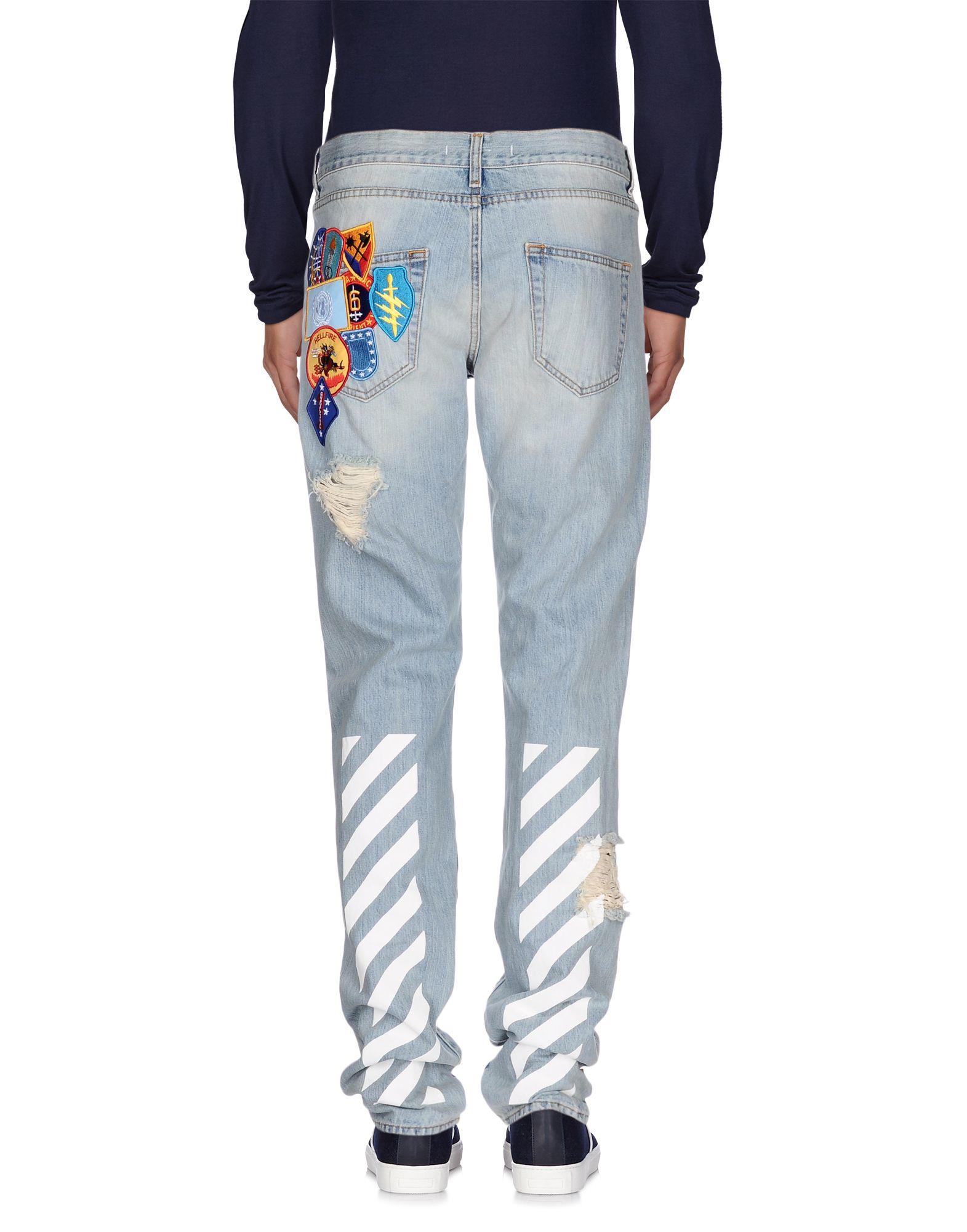 Off-white c/o virgil abloh Straight-Leg Embroidered Denim Jeans in ...