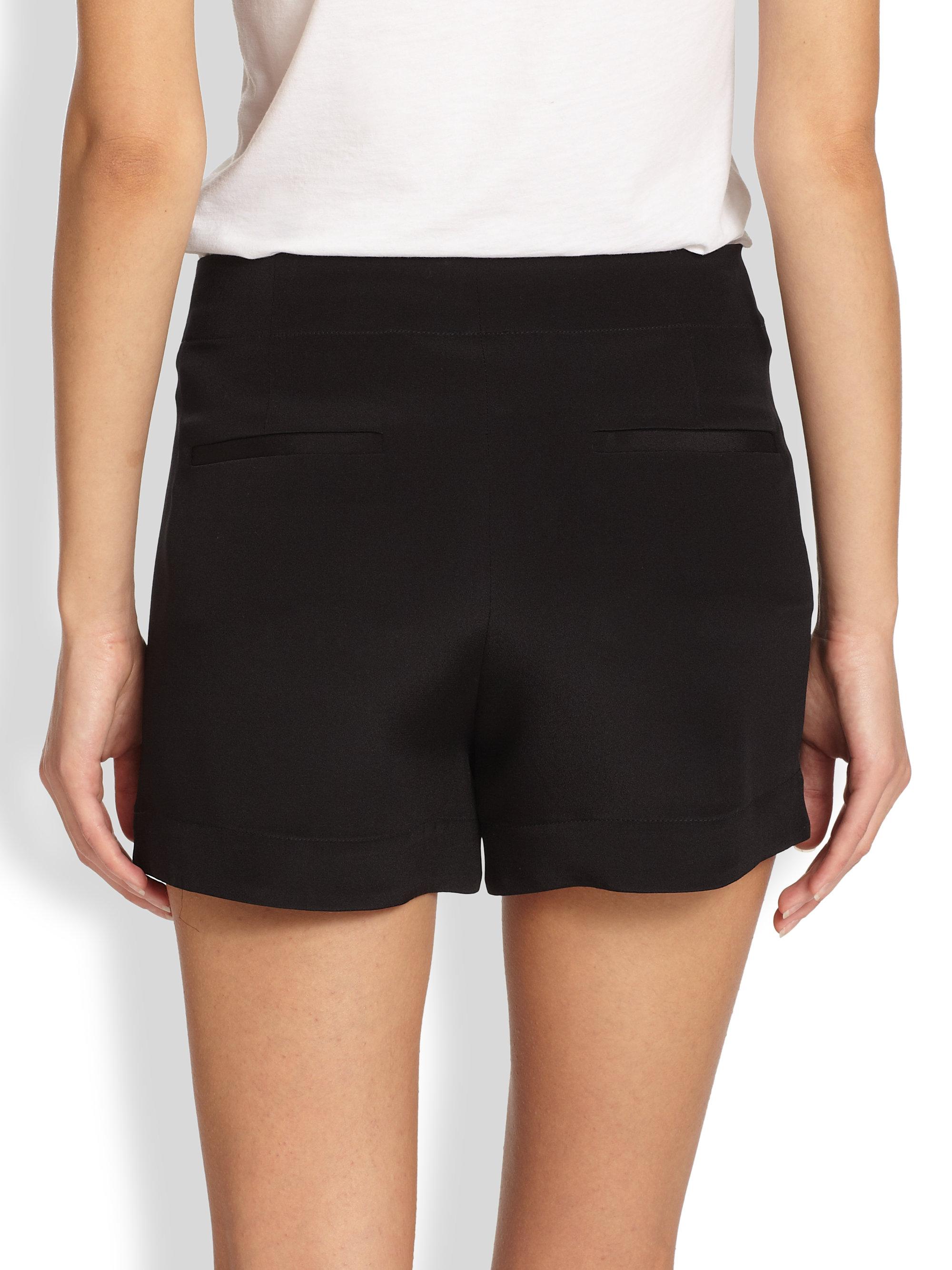 silk shorts womens
