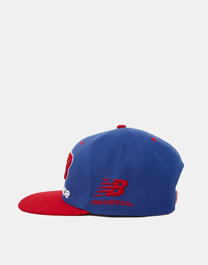 14bae8f9d05 Lyst - New Balance Courtside Snapback Cap in Blue for Men